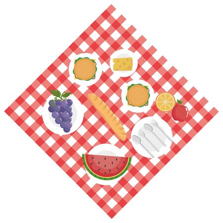 Isolated picnic design vector illustrator