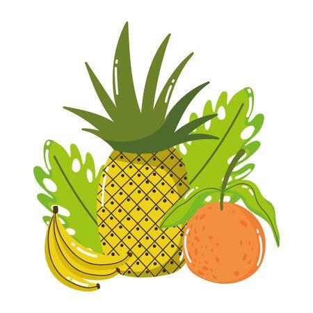 Pineapple banana and orange design