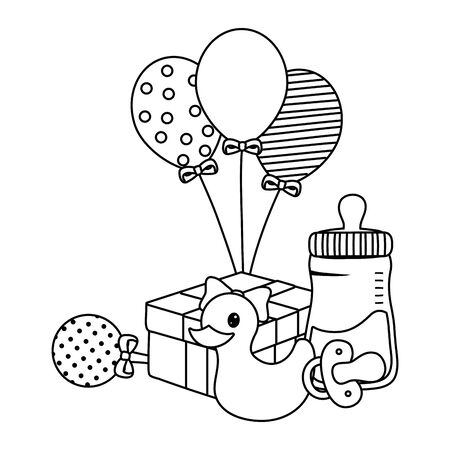 Baby shower icon set design Vektorgrafik