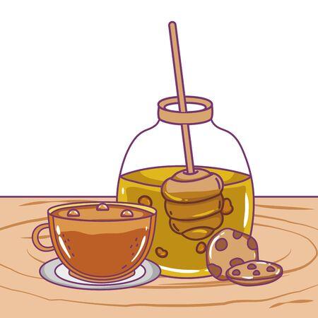 Isolated honey jar vector design
