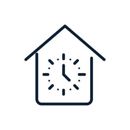 time clock house linear design