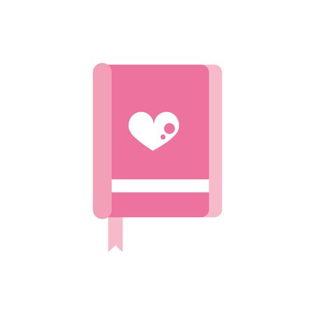 happy valentines day book heart love bookmarks pink design Ilustrace