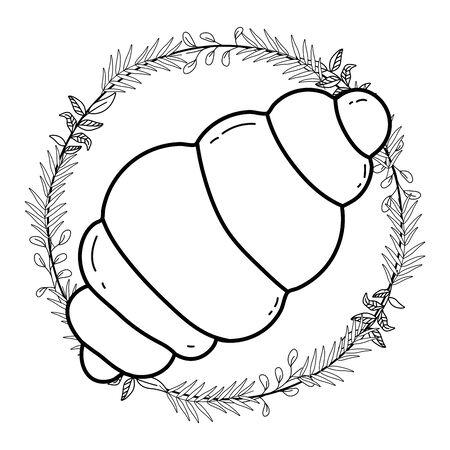 Isolated bread design vector illustration Archivio Fotografico - 137773865