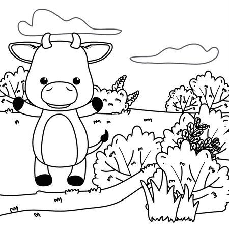 Bull cartoon design vector illustrator Reklamní fotografie - 137830054