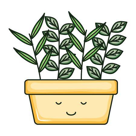 house plant kawaii comic character Illusztráció