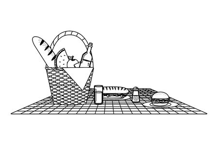 Isolated picnic basket design vector illustrator