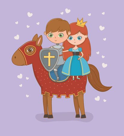 Princess knight and horse of fairytale design