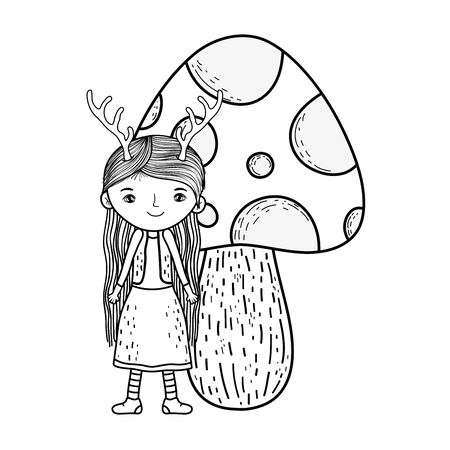cute little fairy with fungus