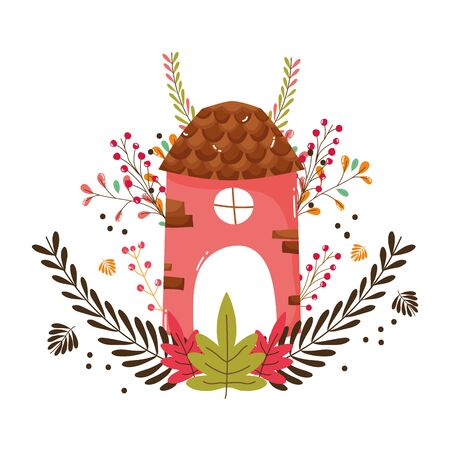 Isolated house of fairytale design