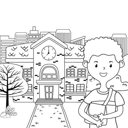 Boy cartoon of school design Ilustrace
