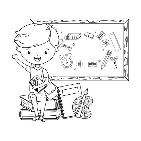 Boy kid of school design