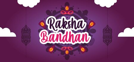 happy raksha bandhan poster design