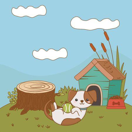 Dog cartoon design vector illustrator Illustration