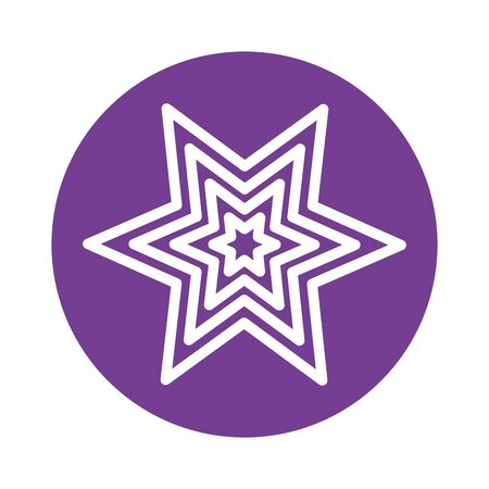 star six pointed block style icon