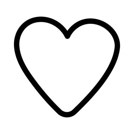 happy valentines day, heart love romantic icon celebration vector illustration thick line