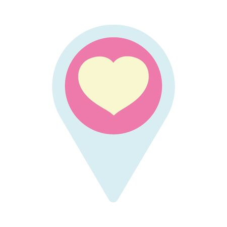 happy valentines day, pointer location love heart passion vector illustration