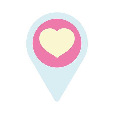 happy valentines day, pointer location love heart passion vector illustration Zdjęcie Seryjne - 138005605