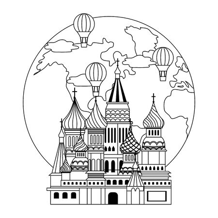 Saint Basil s Cathedral design, Travel trip vacation tourism and journey theme Vector illustration