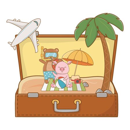 summer vacation relax time cute little happy animal