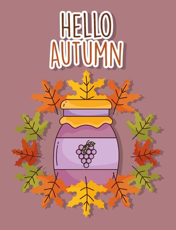 marmalade jar hello autumn design icon