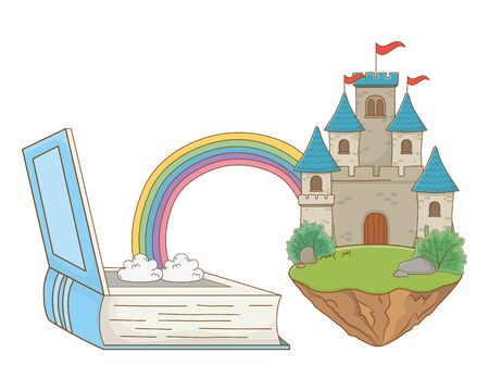 Isolated castle with pennants design vector illustration 向量圖像
