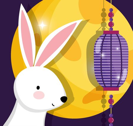 rabbit happy moon festival image