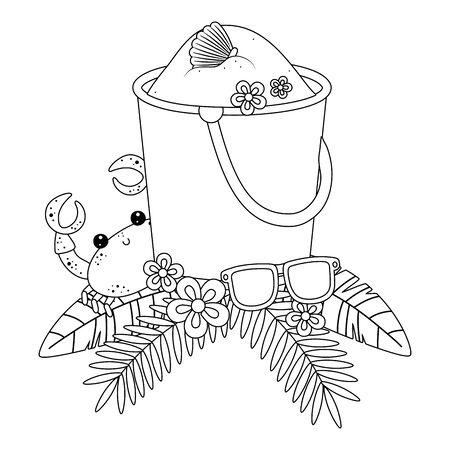Isolated sand bucket design vector illustration