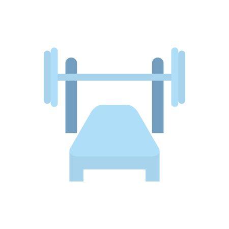 Isolated gym weight icon flat design Ilustração