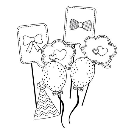 Baby shower icon set design Ilustrace