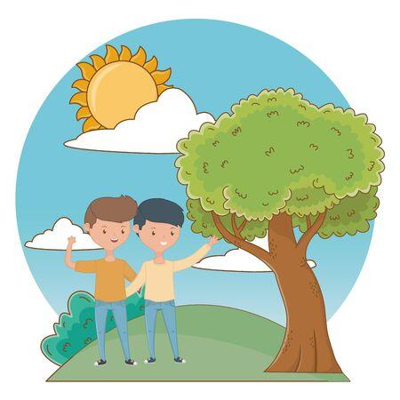 Teenage boys friends design vector illustrator Ilustrace