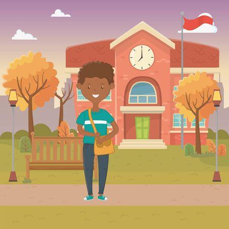 Boy cartoon design, School education learning knowledge study and class theme Vector illustration