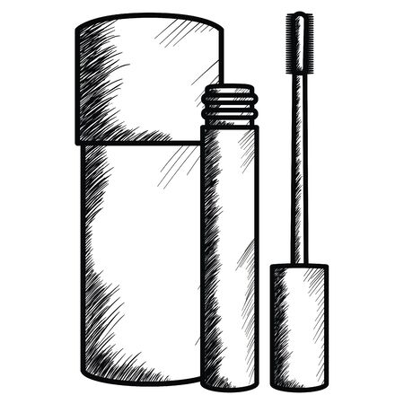 bottle of make up drawing icon vector illustration design 일러스트