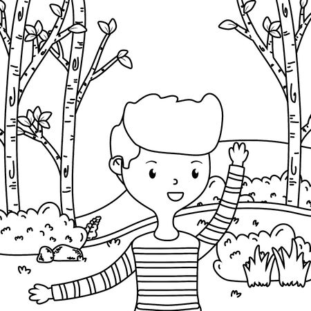Teenager boy cartoon design vector illustrator Reklamní fotografie - 138200825