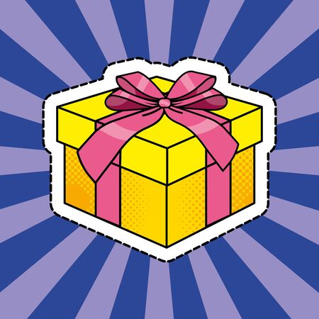 Pop art gift box cartoon 일러스트