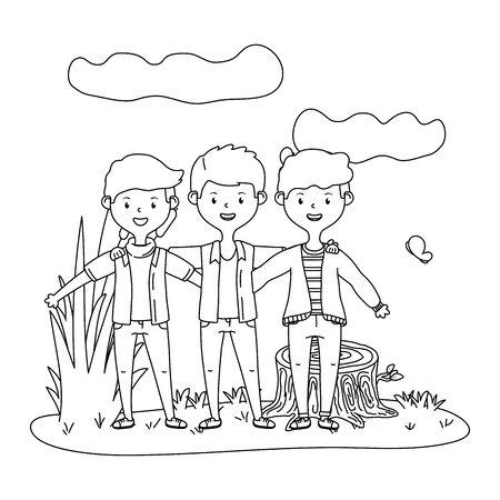Teenage friends in park design Reklamní fotografie - 138202737