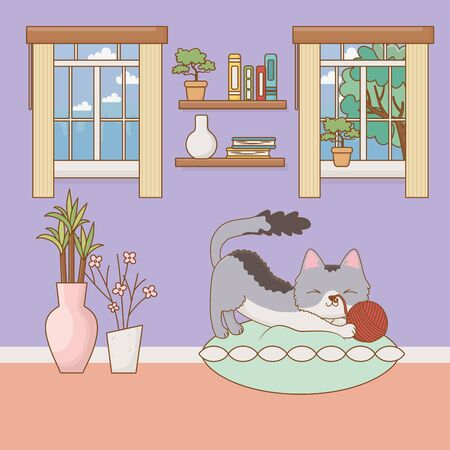 Cat cartoon design vector illustration