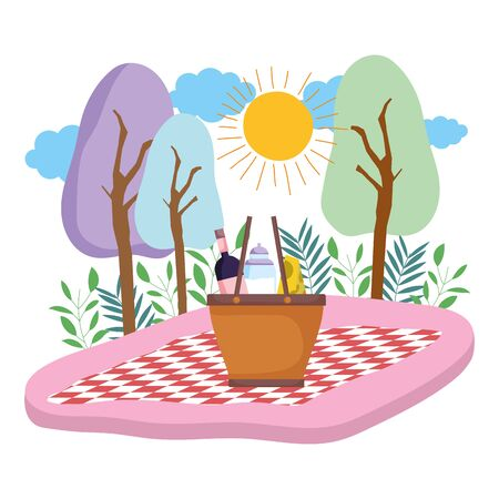 Isolated picnic basket design vector illustration Ilustrace