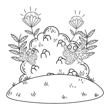 Isolated Butterfly draw cartoon design Archivio Fotografico - 138200974