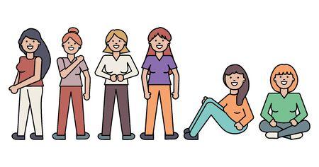 group of women avatars characters Reklamní fotografie - 138201933