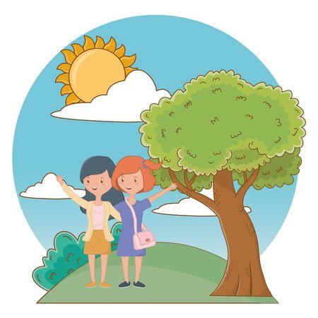 Teenage girls friends design vector illustrator Reklamní fotografie - 138200880