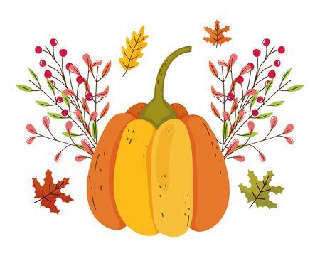 Isolated pumpkin vector design vector illustration