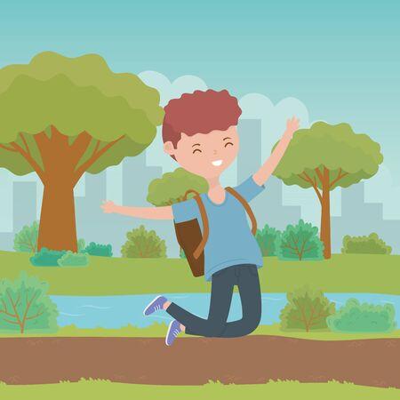 Teenager boy cartoon design vector illustrator Reklamní fotografie - 138200972