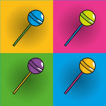 pop art lollipop comic cartoon 일러스트