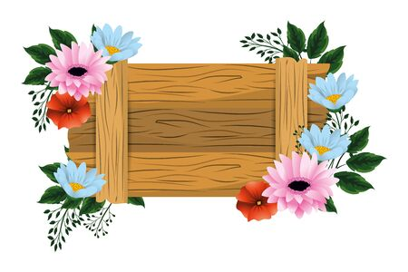 floral tropical cartoon Archivio Fotografico - 138201481
