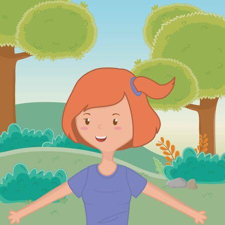 Teenager girl cartoon design vector illustration Reklamní fotografie - 138201848