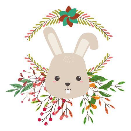 Isolated rabbit cartoon vector design