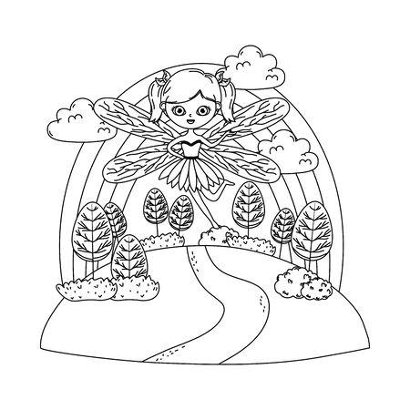 Fairy cartoon of fairytale design 版權商用圖片 - 138255238