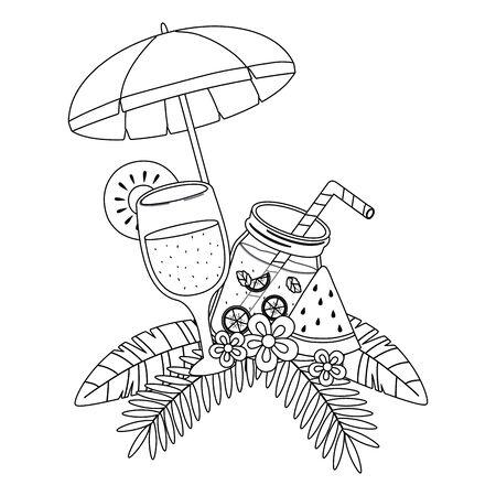 Watermelon and pineapple juice design