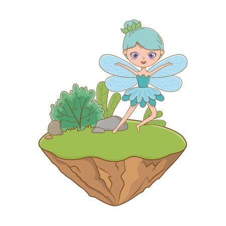 Fairy design, Fairytale history medieval fantasy kingdom tale game and story theme Vector illustration 向量圖像