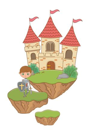 Medieval knight design illustration Ilustrace